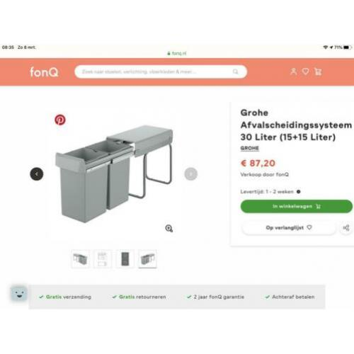 Grohe afval scheidings systeem