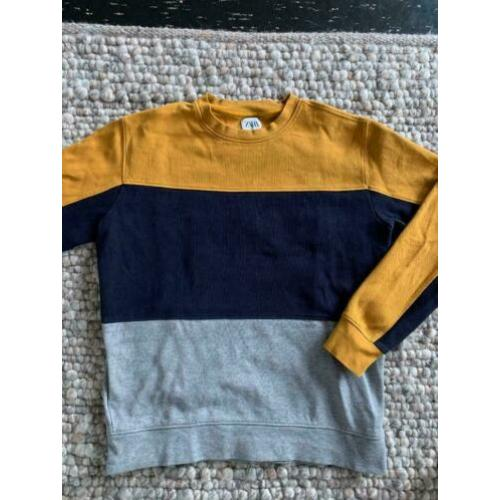 ZARA colorblock trui / sweater maat M