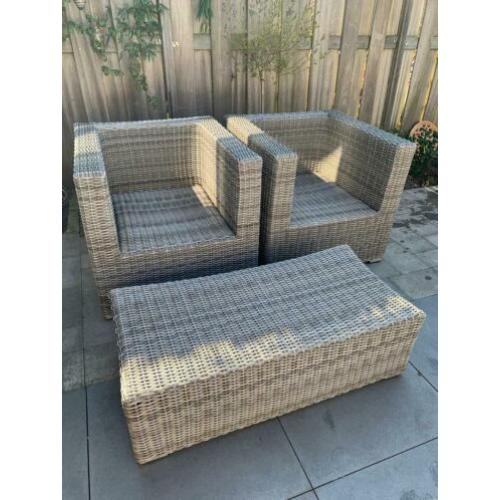 Wicker lounge set